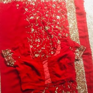 Saree with ready blouse